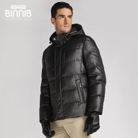 Binnib beanie 2013 slim down coat men's patchwork tidal current