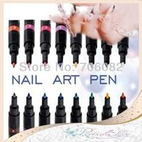 1 PC Nail Art Pen 16 colors Painting Design Tool Drawing Nail Polish Gel DIY Decoration Nail tools GZ001