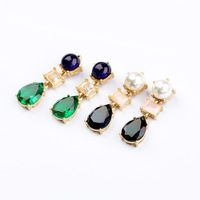 New Styles 2013 Fashion Jewelry Resin Water Drop Fashion Earrings Christmas Gifts