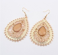 (Min order$8) !Wholesale 2013 New fashion jewellery exaggeration folk style series of fine hollowed-out Teardrop Earrings bijoux