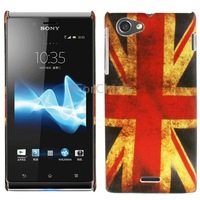 Retro UK Flag Pattern Plastic Protective Case for Sony Xperia J / ST26i