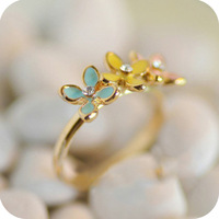 Od0245 accessories small daisy flower fresh ring finger ring female 2WE
