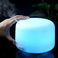 New Fashion 500ml Capacity Humidifier Aroma Diffuser + 7 Color Light Led Ultrasonic Air Purifier Diffuser