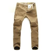 Free shipping 2013 winter thick casual cotton fabrics plus thick velvet trousers men's khaki slacks Slim Korean