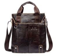 New 2014 men messenger bags Leather Business Bag genuine leather bags for men cross body bag  sale + wholesale