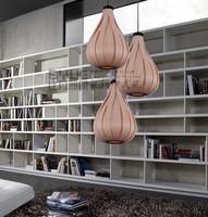 Veneer lamp T8 lighting living room dining room den Southeast Pastoral Chinese chandelier 1117