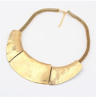 Free Shipping Gold Plated Metal Collar Necklace Big Choker Chunky Necklaces Bijouterie Vintage Fashion Celerity Jewelry A1142