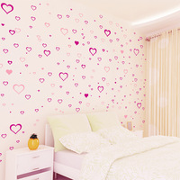 Romantic Heart Removable Wall Stickers, Free shipping Home Decor Wall Art
