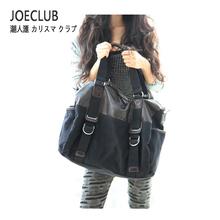 2013 women's handbag fashion color block cross-body vintage one shoulder man bag motorcycle thick canvas bag(China (Mainland))