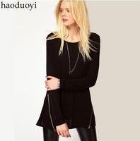 Free shipping Large size XS~XXL high quality causual t shirt long sleeve t shirt women's tops for 2014 women's t-shirts