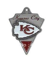 Free shipping  NFL antique silver single-sided Kansas City Chiefs charms
