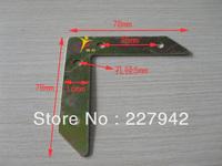 Furniture hardware  steel angle bracket angle iron cut off angle code attached through flat rectangular Corner