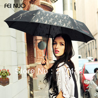 Fashion Style Sunny and Rainy Dual Function Folding Umbrella