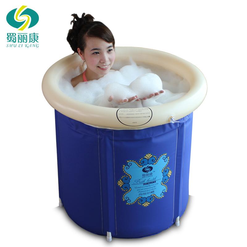 Thickening folding tub plastic bath bucket inflatable bathtub adult bathtub bath bucket bath bucket(China (Mainland))