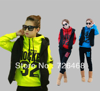 Free shipping thick clothes warm Women Leisure sweatshirt hooded Sports Hoodie Set & Three-piece Thickening Sweater (1pack=3pcs)