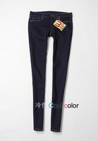 U elastic slim jeans skinny pencil pants female