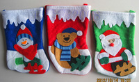 Christmas decoration socks gift bags christmas tree decoration small socks candy bags 2