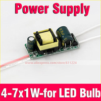 Led Driver 4-7 x1W Inside Driver Power Supply Led Light Lamp AC85-265V For 5W 7W E27 E14 GU10 B22 LED Light Bulb Free Shipping
