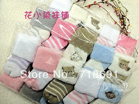 In Stock! Newborn Baby Socks, Winter boys girls baby footwear cute colorful baby socks 10pairs/lot