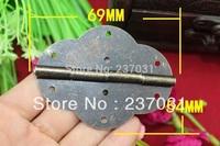 69 * 54MM Large hinge / antique oval hinge / hinge wooden box / wine flat hinge 8 holes