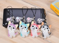 New Arrival! Wholesale cute10pairs/lot I LOVE CAT charm strap for cell phone iPod MP3, moble phone strap chain