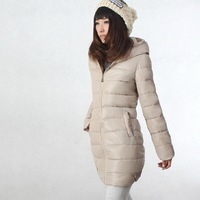 2013 new arrival women's fashion long thick down coat winter outerwear 9 colors clothes women jacket with hood NTZH363