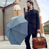 Classic fine plaid male folding commercial umbrella