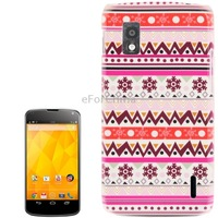 New Stylish Aztec Tribal Pattern Retro Plastic Protective Case for LG Nexus 4 / E960