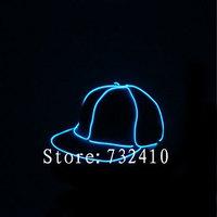 New novel el wire baseball cap light up baseball hat luminous cap