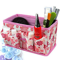 Folding cosmetic storage box  jewelry storage box small storage bag 18*10.5*10CM JZ011