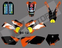 New style (bull black 0391) TEAM GRAPHICS & BACKGROUNDS DECALS FOR KTM SX85 SX 85 2006 2007 2008 2009 2010 2011 2012