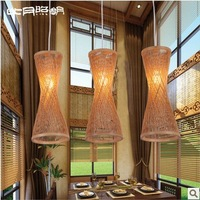 Pastoral T8 lamps IKEA bamboo wooden knitting aisle lights chandelier 3157 Southeast creative