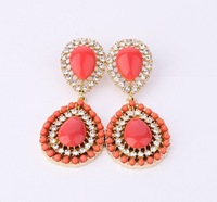 Fashion Earrings 2013 New Luxury  Bohemia Style Drop Earrings Jewlery For Women  Free Shipping