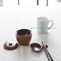 Japanese style zakka wool tableware wood Small sauce tank sambonet spice jar pickles tank