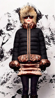 3011# 2013 New wholesale & retail top quality women's Winter durk Down jacket,   feather fashion With Fur Collar