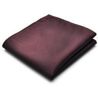 PenSee Mens Pocket Square 100% Silk Woven Solid Brown Pocket Square #25