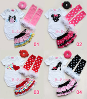 Baby girls cartoon cotton romper suits,kids casual bodysuit sets