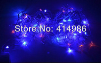 EMS wholesale 50pcs 10m 100pcs LED 110V outdoor holiday decoration christmas light led string lighting + Tail connector L10100