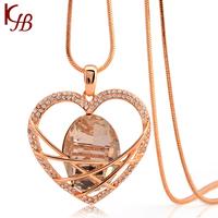 2014 New Arrival Wholesale Heart Pendant Costume Jewellery MLY0493