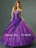 New HOT SALE fashion Allure Quinceanera Dress Q262 Plum Ball Gown Quince Dress Evening dress