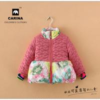 Models of child winter coat, detachable fur collar Korean children's fashion coat thicker fabric hem - Free shipping