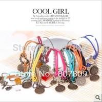 12pcs/lot mixed vintage bracelet  shinee/exo wolf/exo growl/exo logo/tvxq/ftisland