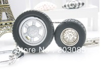 Hot sale tyre tire model keychain rubber car key chain