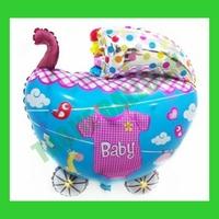 Free Shipping 50pcs/Lot baby carriage Balloons,Baby bassinet balloon,Kids Balloon