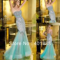 Sweetheart Heavy Beaded Mermaid Sweetheart Backless Plus Size Evening Dress