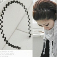 Free Shipping,Min.Order Is $10 (Mix Order),hair jewelry, Wavy Type Hair Hoop,Black Hair Circle,Factory Price