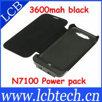 Leather case,power case,3600mah External battery case for Samsung Galaxy Note 2 N7100 10pcs/lot free shipping