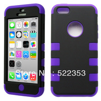 For iPhone 5c colorful 3 in 1 Hard Silcone Heavy Duty Hybrid Rugged Hard Case Cover