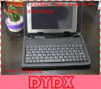"USB Keyboard Leather Cover Case Bag for 7"" Tablet PC MID PDA VIA 5650 , Free Shipping Drop Shipping Wholesale"