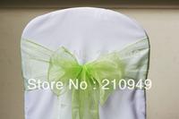 150 pcs chair sashes  free shipping apple green organza sashes